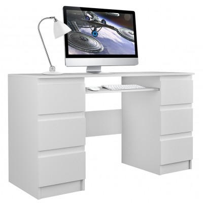 Biurko komputerowe KUBA biel 6 szuflad